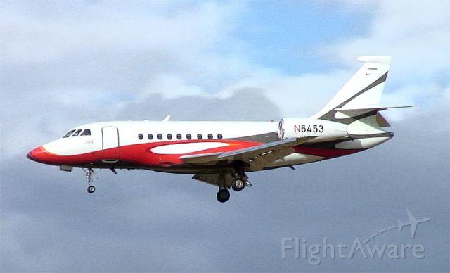 Dassault Falcon 2000 (N6453) - Nike owned aircraft (Nike Air) arriving home airport.  Hillsboro Oregon.