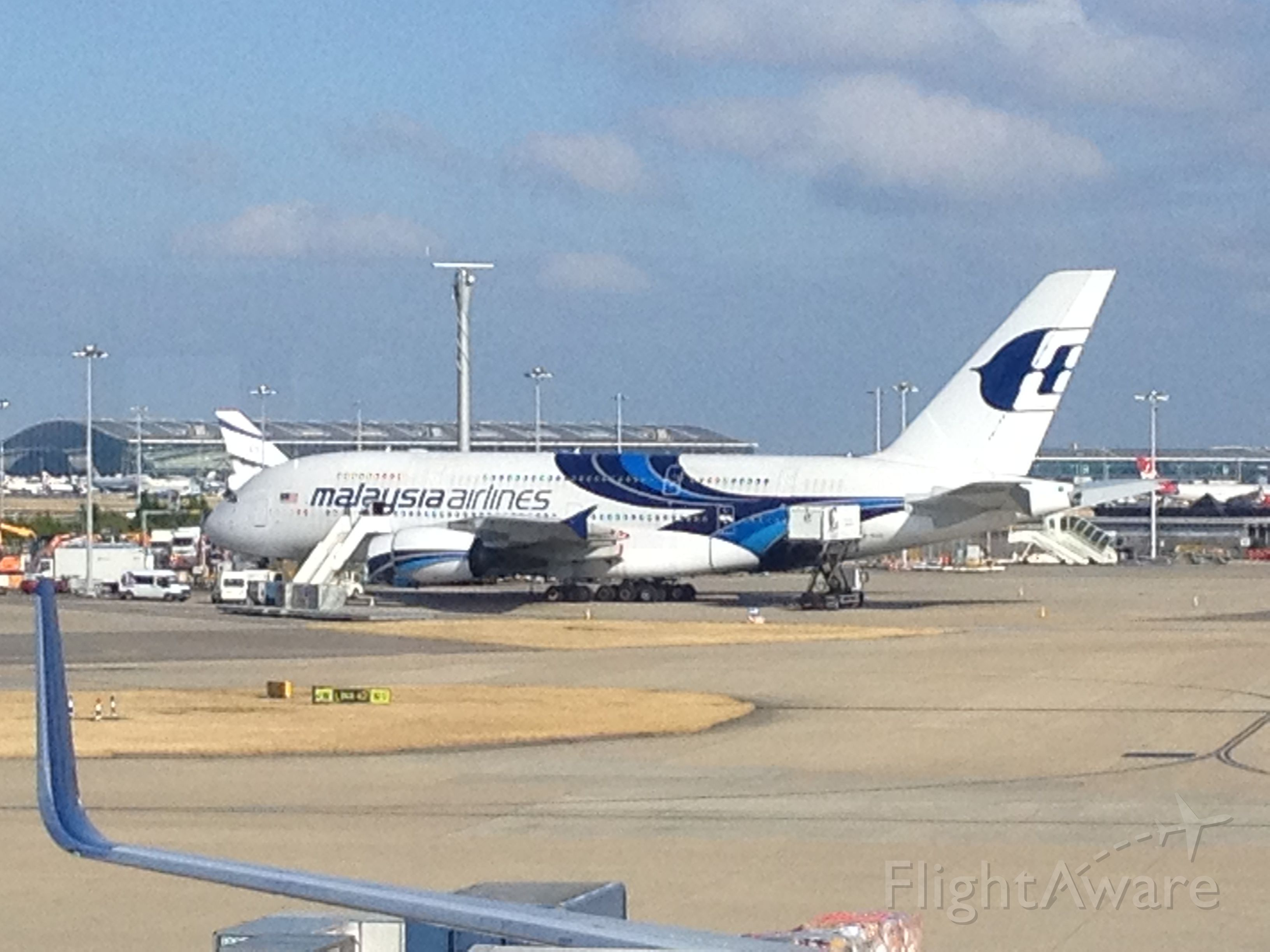 Airbus A380-800 — - Taken from Terminal 4 at Heathrow.  Sorry for not being able to get the registration number
