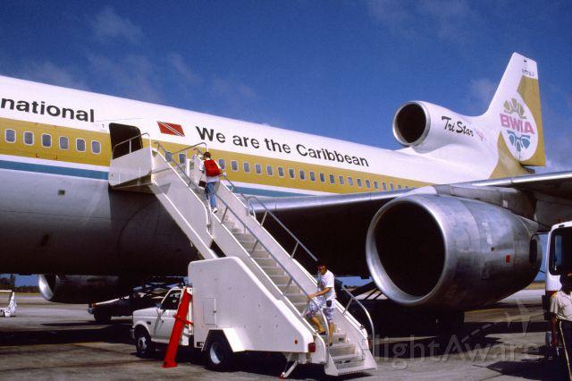 Lockheed L-1011 TriStar (9Y-TGJ) - April 1993 at Bridgetown, Barbados