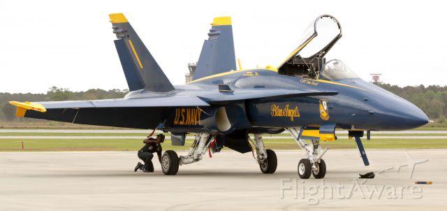 McDonnell Douglas FA-18 Hornet — - Hornet Post-flight