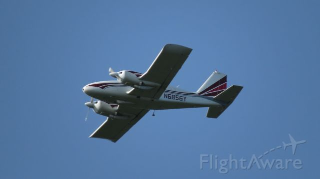 Piper Apache (N6856Y) - It was zooming around the Island at low altitude on the morning of 8/25/17