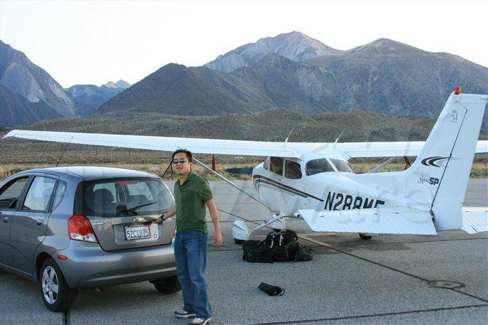 Cessna Skyhawk (N288ME) - Arriving at Mammoth