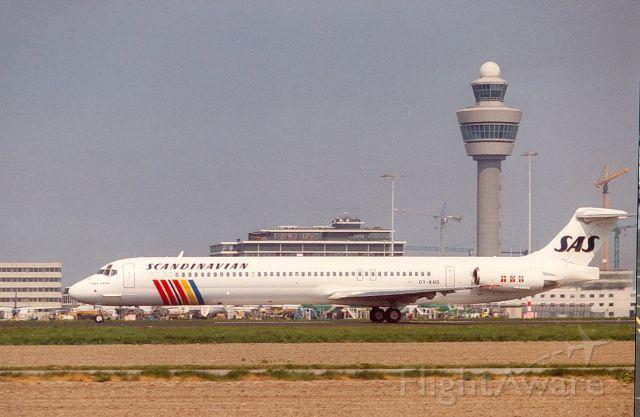 McDonnell Douglas MD-81 (OY-KHO) - SAS MD-81 cn53003 (Archief jr90)