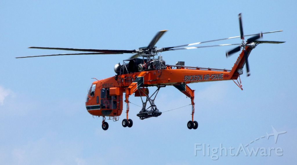 Sikorsky CH-54 Tarhe (N163AC) - Arriving is this 1993 Sikorsky S-64F heavy lift Rotorcraft in the Summer of 2019.