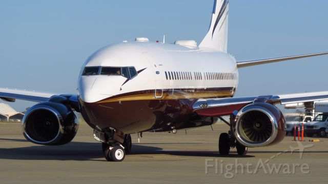 Boeing 737-700 (N162WC) - BBJ With the new Aviation Partners winglets at KMCC. Looks awesome!