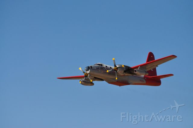Lockheed P-2 Neptune — - Tanker 12 just off of runway 20. Off to the Twitchell Canyon Fire.