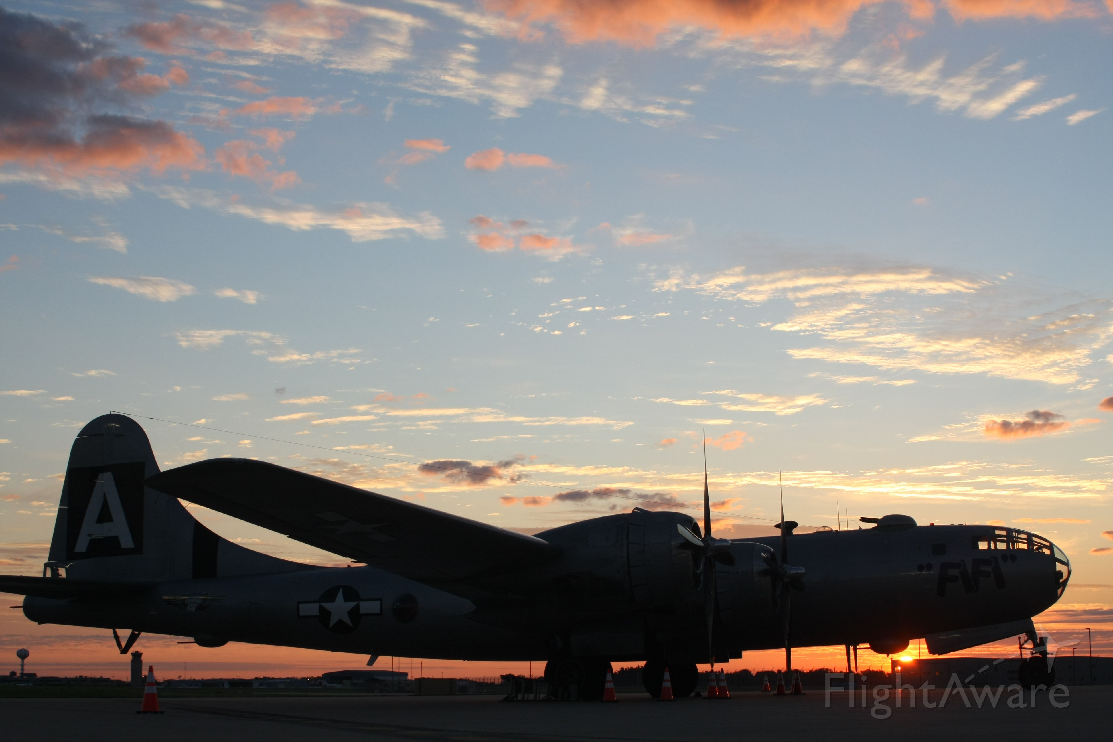 Boeing B-29 Superfortress (N529B) - B-29 FIFI Platinum Aviation Ramp at Appleton, WI EAA 2015.