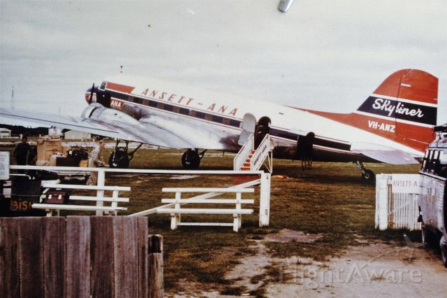Douglas DC-3 (VH-ANZ) - Ansett-ANA DC3 parked at the original 1930