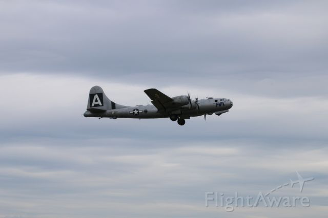 Boeing B-29 Superfortress — - FIFI flew again today at Paine Field, WA. Cloudy with some showers but she took to the skies for 1/2 hour. Great to hear the sound again.