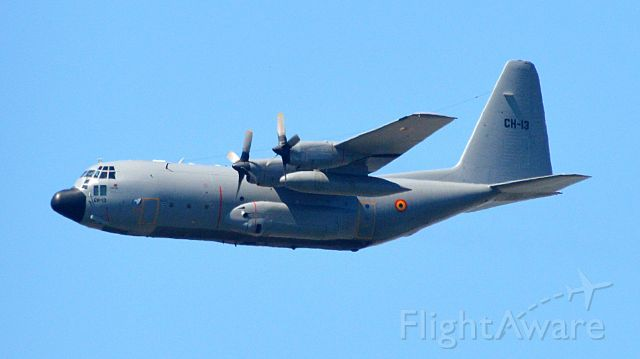 Lockheed C-130 Hercules (BMJ13) - Passing over Luxembourg city for National day.