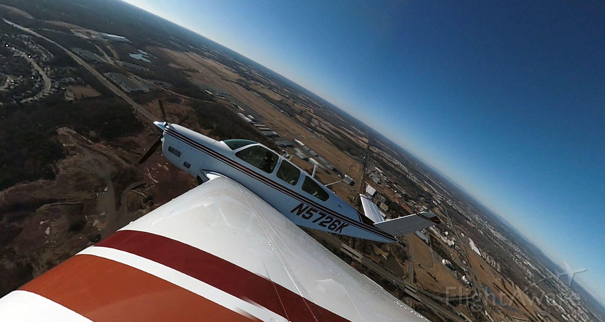 Beechcraft 35 Bonanza (N5726K) - Right Crosswind Departure from Runway 34R
