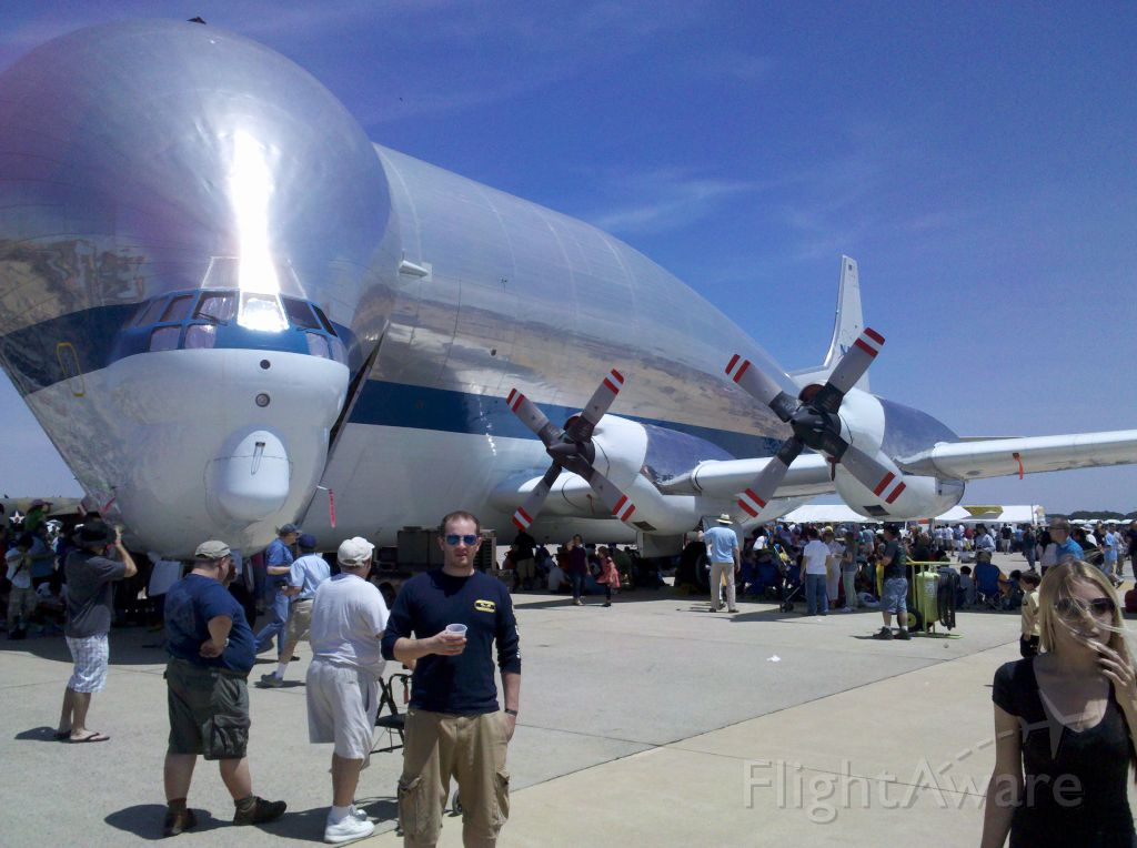 — — - NASA's Guppy at Andrews Air Force Base (KADW) during the Joint Services Open House 2012.