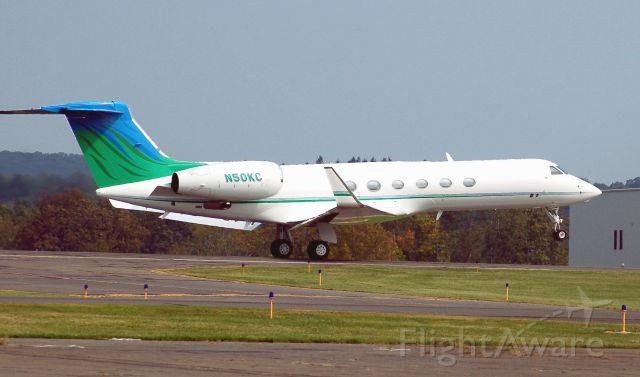 Gulfstream Aerospace Gulfstream V (N50KC) - rolling off 18 OXC