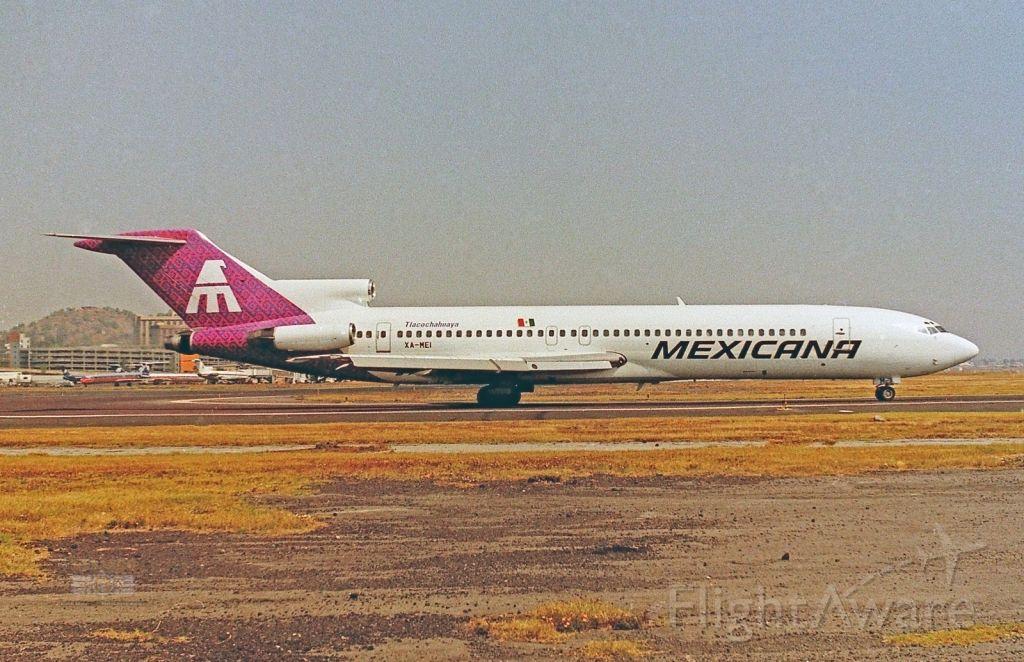 """BOEING 727-200 (XA-MEI) - Mexicana / Boeing 727-264 (Adv) - MSN 22410 / XA-MEI """"Tlacochahuaya"""" / MMMX 1993"""