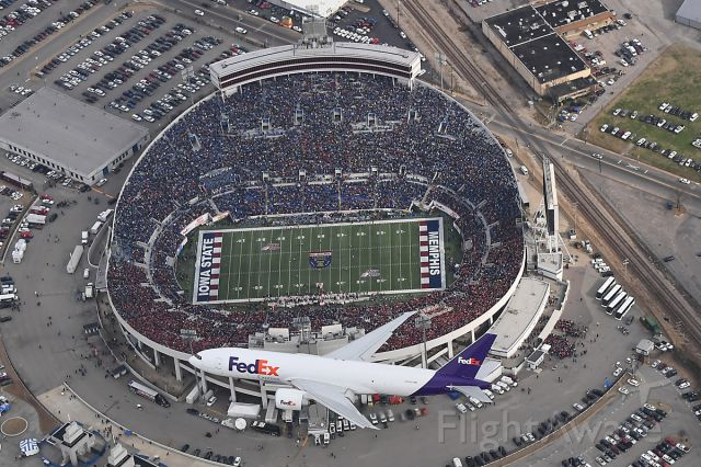 — — - Fed Ex Boeing 777 Flyover before the 2017 Auto Zone Liberty Bowl Game in Memphis TN