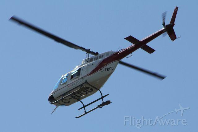 Bell JetRanger (C-FDOC) - 2010:08:17. 15:58 Canada Department of Transport Bell 206B JetRanger overhead