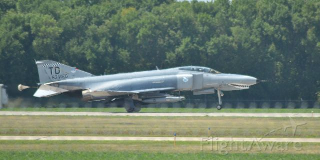 McDonnell Douglas F-4 Phantom 2 (AFR353) - QF-4 of the 53d Weapons Evaluation Group landing in Sioux Falls ahead of the Power on the Praire Airshow 7-21-16