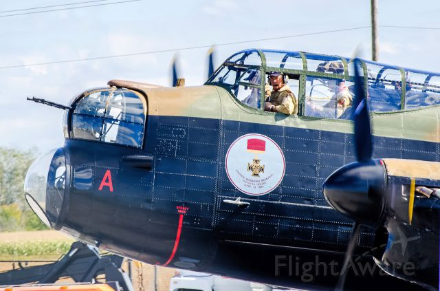 Avro 683 Lancaster (C-GVRA) - Avro Lancaster crowded cockpit, have a good flight.