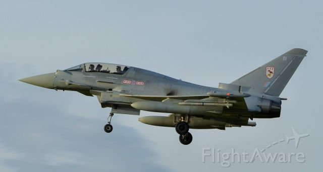 — — - Two place version coming into land at Coningsby.  XXX, yes its 30 in roman numerals but the RAF use it for 29 sqn.