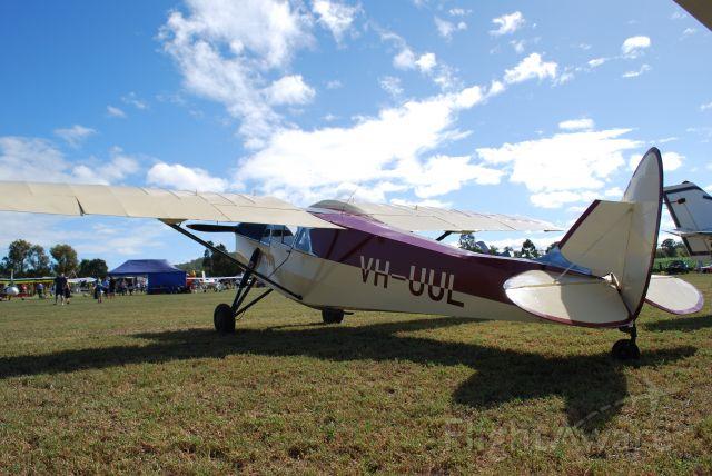 De Havilland Leopard Moth (VH-UUL) - DH-85 Leopard Moth is a regular at Clifton, Qld, Australia