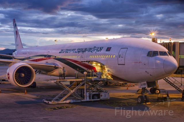 BOEING 777-300 (S2-AHM) - 1st Jan., 2017