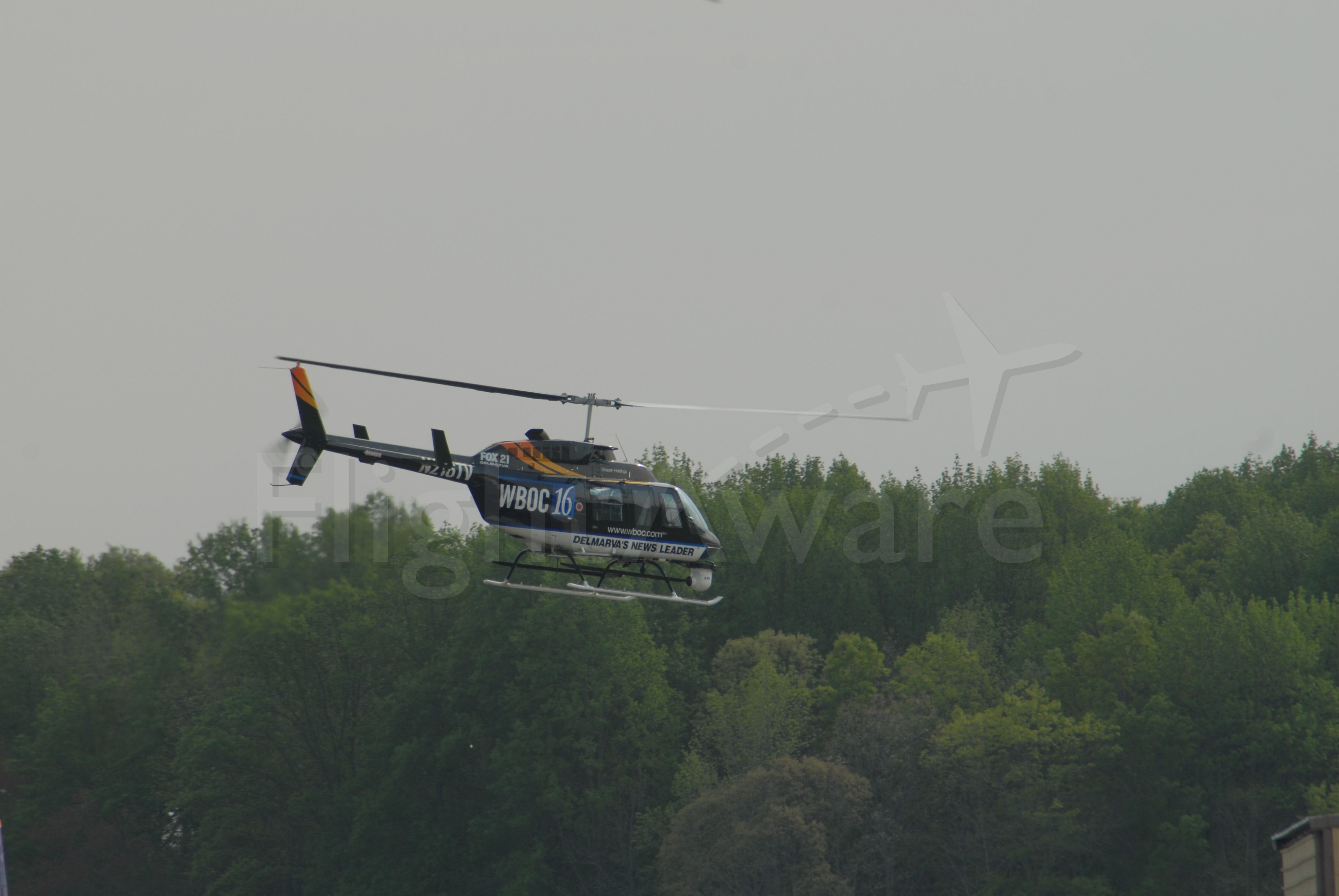 N216TV — - Bell 206L at SBY Airport. Just leaving to go do a story. WBOC TV News Helicopter