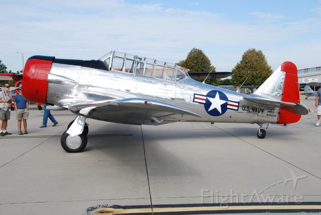 North American T-6 Texan (N356TP) - On static at Fly Iowa 2019.