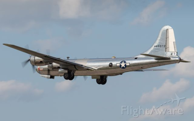 "Boeing B-29 Superfortress (N69972) - B-29 ""DOC"" departs Oshkosh during EAA Airventure 2019."