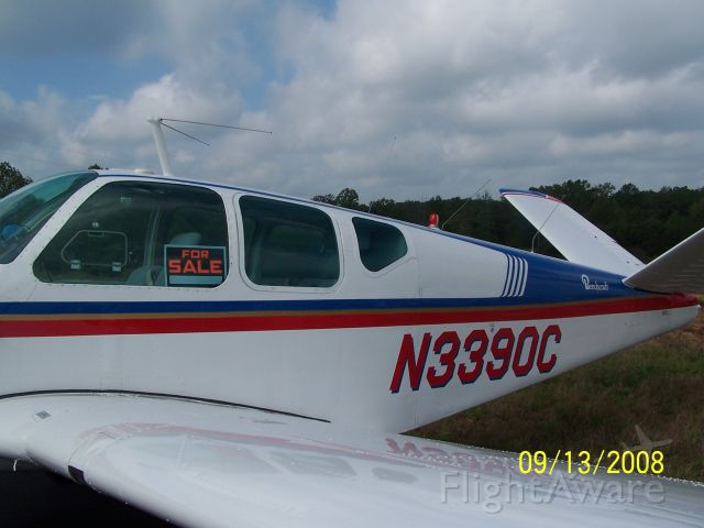 Beechcraft 35 Bonanza (N3390C) - I found this Bonanza for sale at the time at the Scott County Oneida Airport, KSCX.