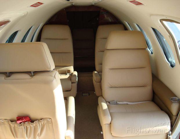 Cessna Citation 1SP (N5411) - Interior aft.