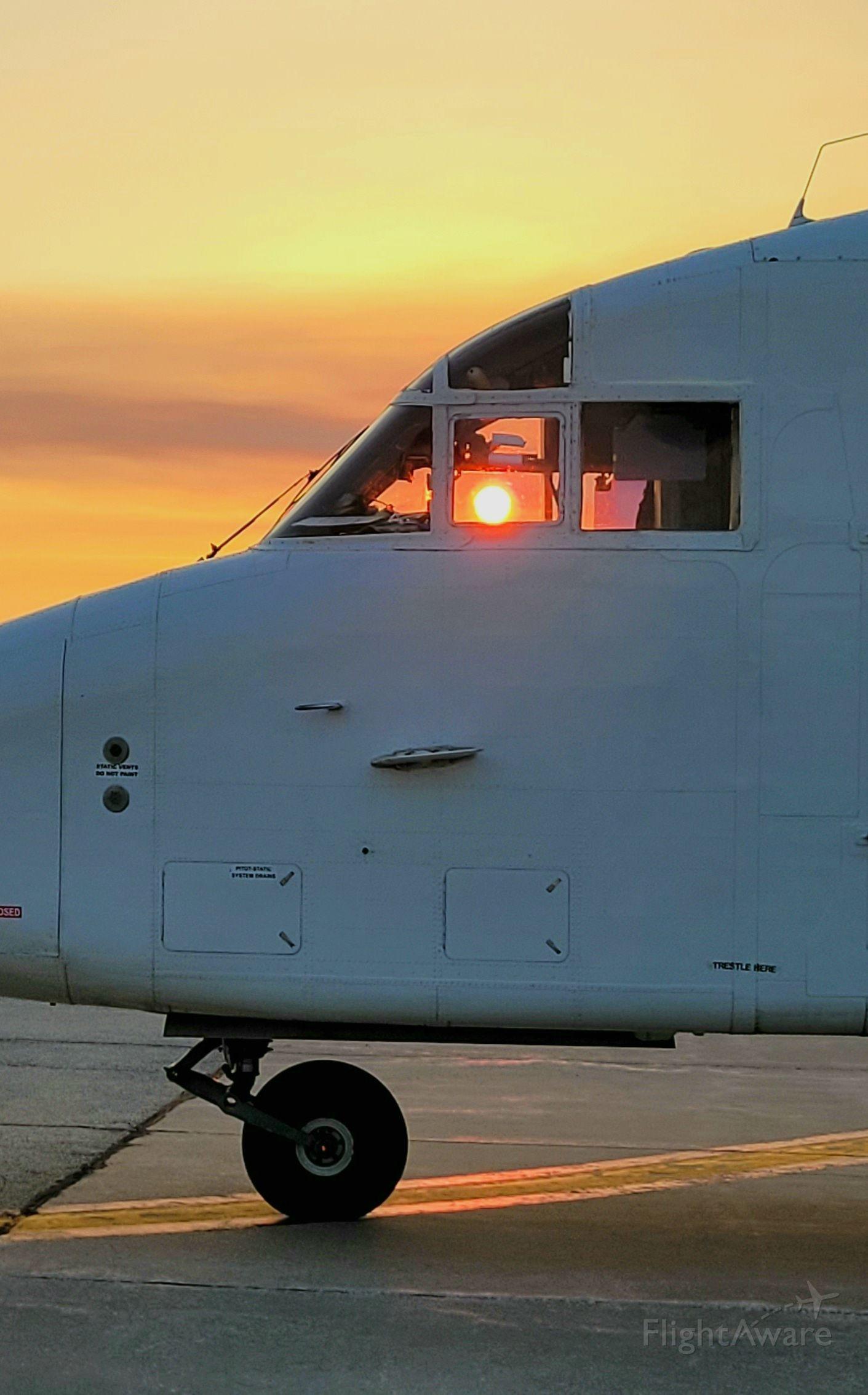 Short SD3-60 (N360RW) - Sunrise through the cockpit at DEC.