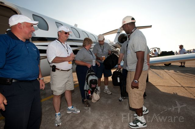 CSOA — - Cessna Special Olympics Airlift 2010 - http://flightaware.com/airlift/ - Airlift and Athletes arriving in Lincoln, Nebrasks on July 17, 2010.  Photos Courtesy Cessna Aircraft Company