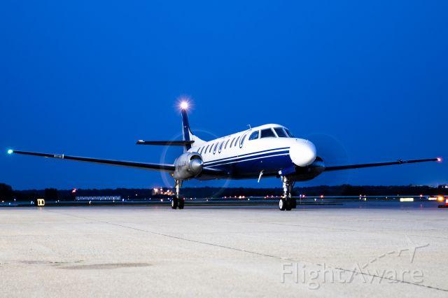 "Fairchild Dornier SA-227DC Metro (N654AR) - SW4 post engine start during ""blue hour"". These Metros are LOUD!"