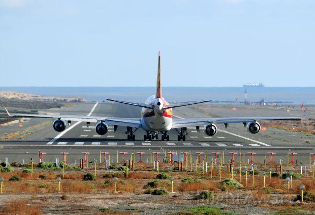 Boeing 747-400 (N782CK) - Takeoff by the runway 03L.