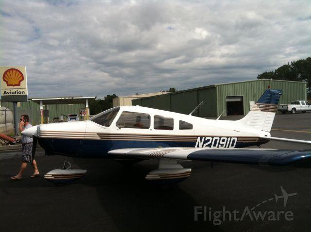 Piper Cherokee (N2091D) - KALX en route to KECP
