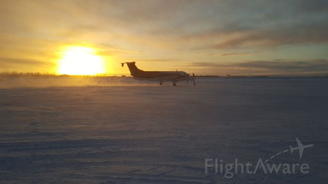 Beechcraft 1900 (N972EA) - 972 taxiing out of Galena