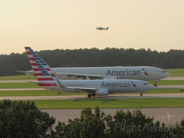 — — - Big twin and little twin! N990NN in the front, N787AL in the back. September 20, 2018.