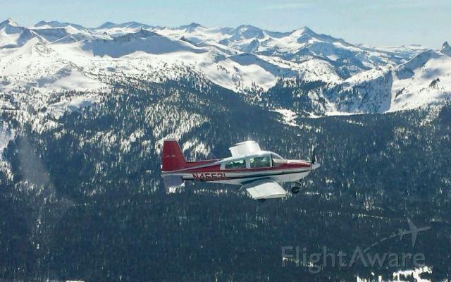 Grumman AA-5 Tiger (N4552L) - Flying over the Sierra Nevada