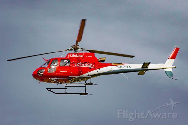 Eurocopter AS-350 AStar (N67RX) - LifeLine 67 escorting Honor Flight Northern Colorado procession May 6, 2018.