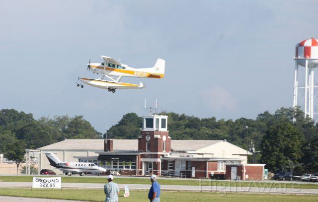Cessna Skywagon (N9292) - 2017 Cracker Fly In.  Cessna A185F Amphibian taking off.