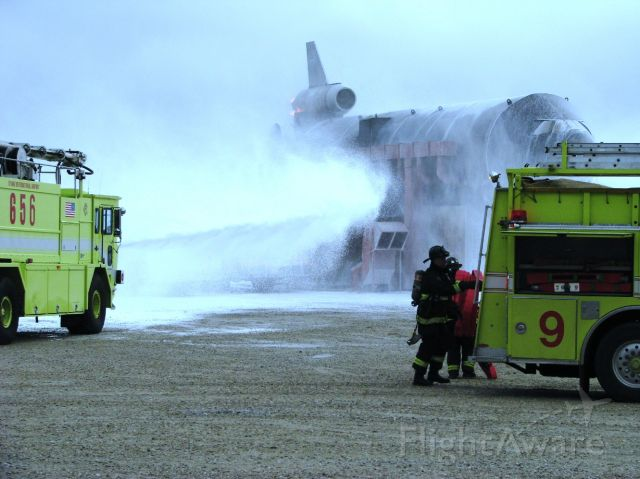 ORD — - ARFF vehicles during ORD mass disaster drill 08