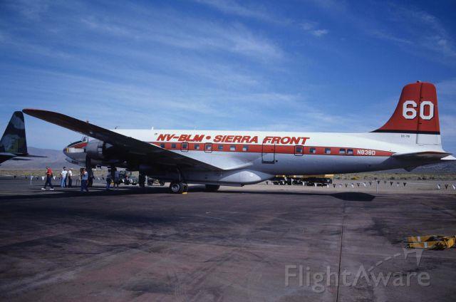 "Douglas DC-7 (N838D) - at Reno Stead Airport on 1991/09/14 ""Reno Air Lace """