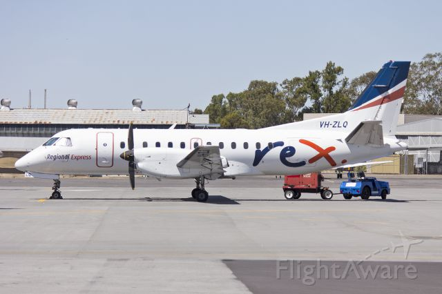 VH-ZLQ — - Regional Express Airlines (VH-ZLQ) Saab 340B parked on the tarmac at Wagga Wagga Airport.