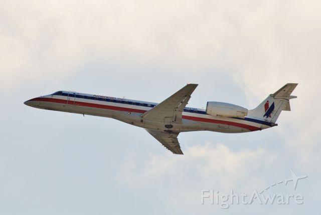 Embraer ERJ-135 (N821AE) - Departing runway 13 to Chicago