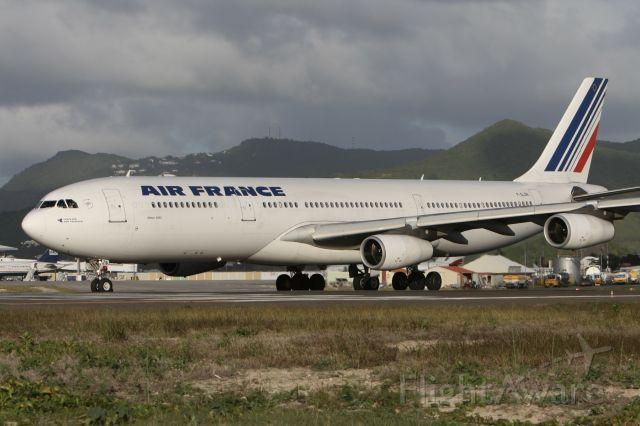Airbus A340-300 (F-GLZN) - January 14, 2009 - leaving St. Maarten