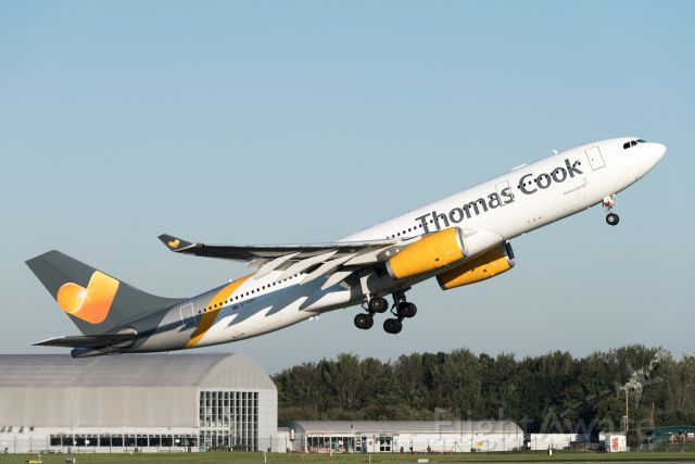 Airbus A330-200 (G-TCXC) - Thomas Cooks' A332 take off from Manchester Airport-19.9.21