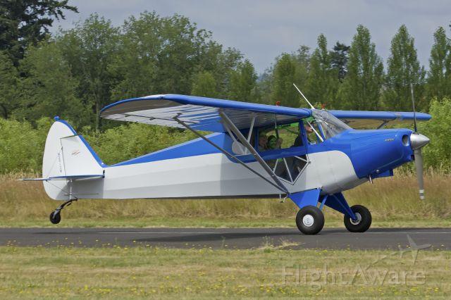 Piper PA-12 Super Cruiser (N2913M) - Piper PA-12 Landing Starks Twin Oaks Airpark. 7-6-13