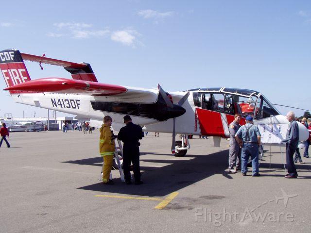 North American Rockwell OV-10 Bronco (N413DF) - CalFire North American OV-10 Bronco.  Taken at the 2005 Airfest in Eureka, CA.