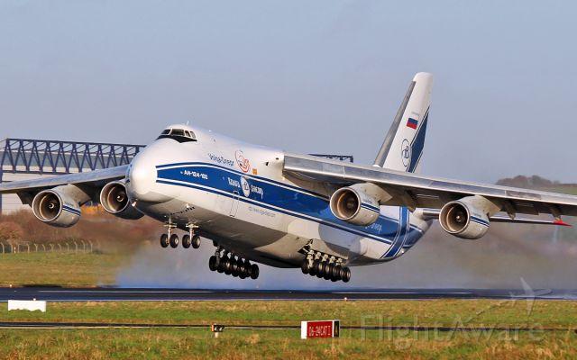 Antonov An-124 Ruslan (RA-82042) - volga-dnepr an-124-100 ra-82042 dep shannon for columbus ohio 10/12/16.