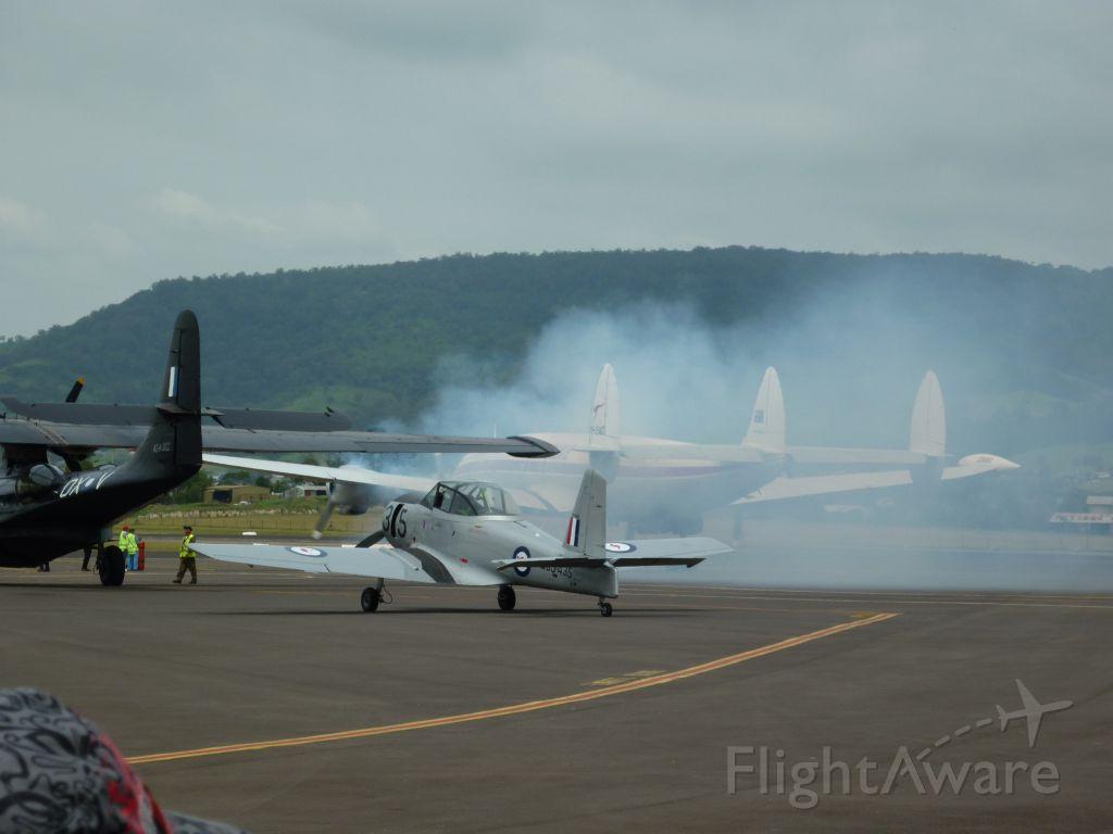 Lockheed EC-121 Constellation (VH-EAG) - Lockheed Super Constellation Engine start up  at  Wings Over The Illawarra 2010
